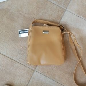 Perlina, natural tan, Saddle Bag  6213